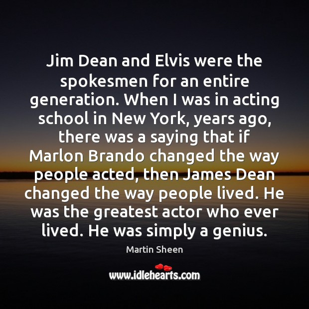 Jim Dean and Elvis were the spokesmen for an entire generation. When Image