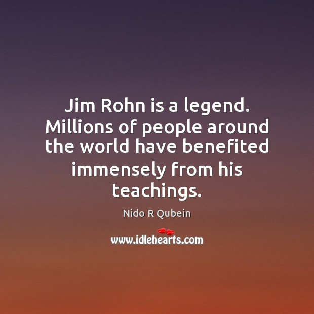 Jim Rohn is a legend. Millions of people around the world have Image