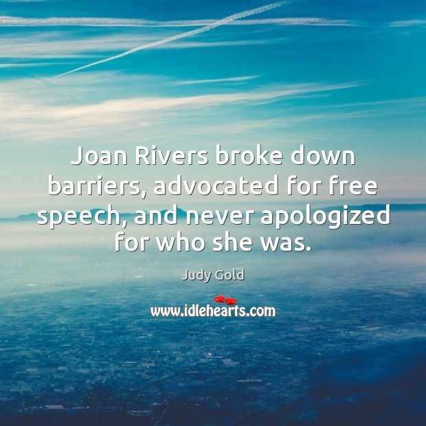 Image, Joan Rivers broke down barriers, advocated for free speech, and never apologized