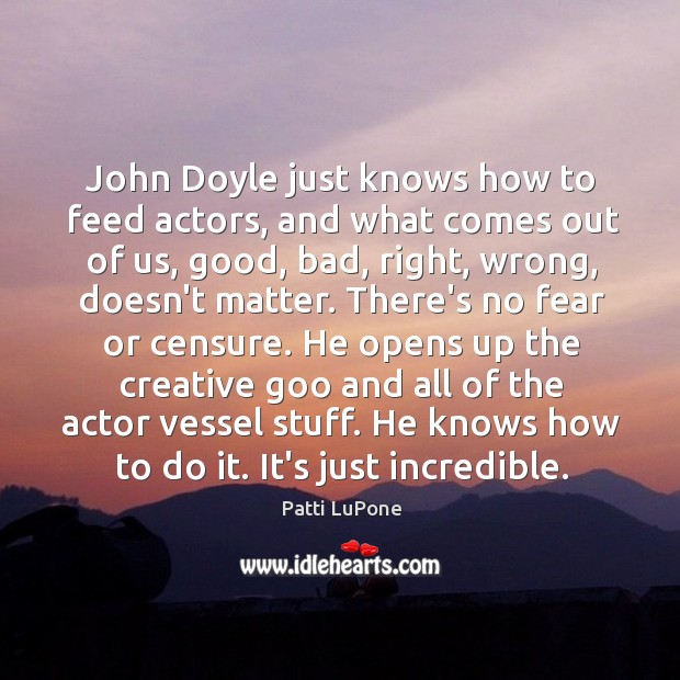John Doyle just knows how to feed actors, and what comes out Image
