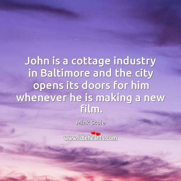 John is a cottage industry in baltimore and the city opens its doors for him whenever Image