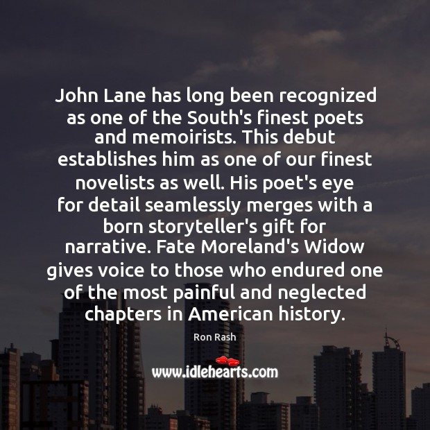 Image, John Lane has long been recognized as one of the South's finest
