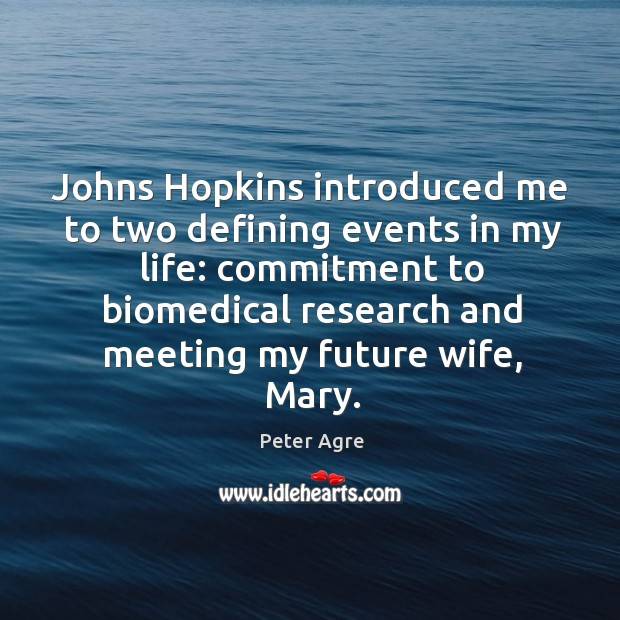 Johns hopkins introduced me to two defining events in my life: commitment to biomedical Image
