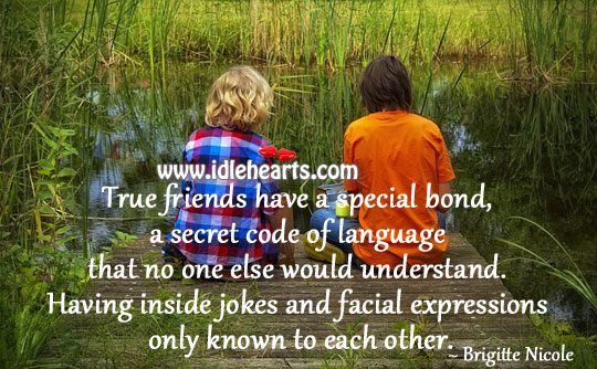Image, True friends have a special bond