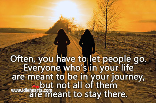 Often, We Have To Let People Go.