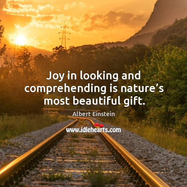 Image, Joy in looking and comprehending is nature's most beautiful gift.