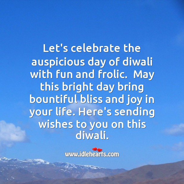 Joy in your life Diwali Messages Image
