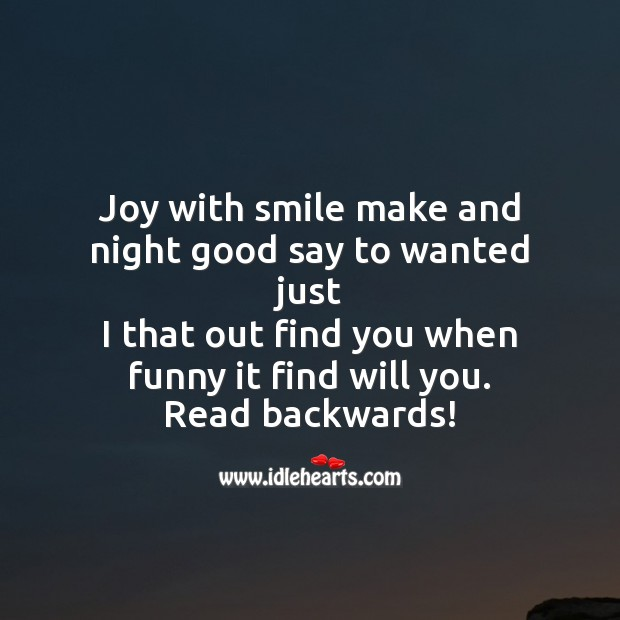 Joy with smile make and night Image