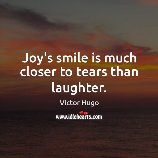 Image, Joy's smile is much closer to tears than laughter.