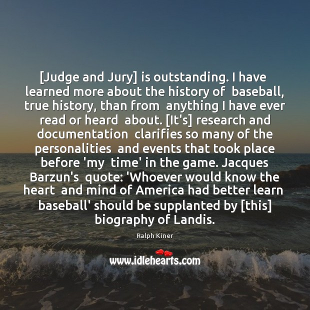 [Judge and Jury] is outstanding. I have  learned more about the history Image