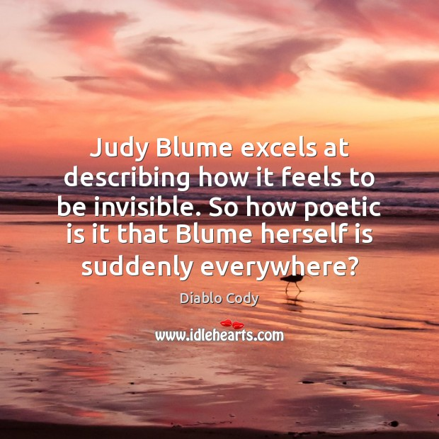 Image, Judy Blume excels at describing how it feels to be invisible. So