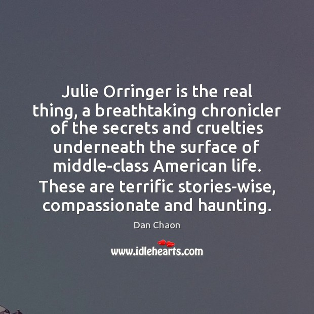 Image, Julie Orringer is the real thing, a breathtaking chronicler of the secrets