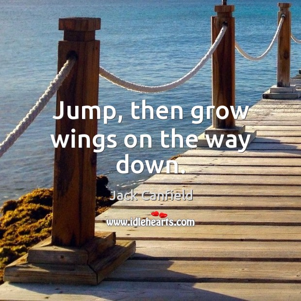 Image, Jump, then grow wings on the way down.