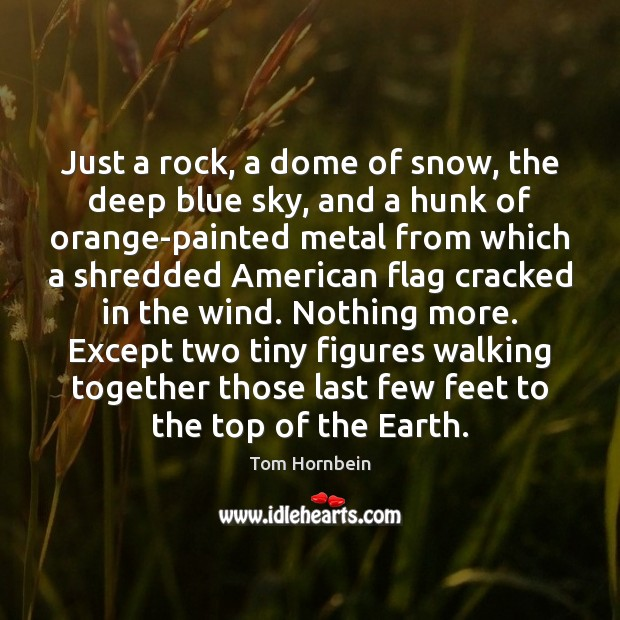 Just a rock, a dome of snow, the deep blue sky, and Image