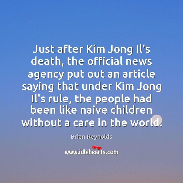 Image, Just after Kim Jong Il's death, the official news agency put out