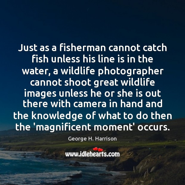 Just as a fisherman cannot catch fish unless his line is in Image