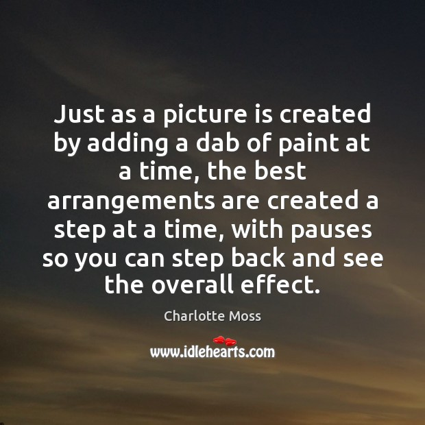 Just as a picture is created by adding a dab of paint Image