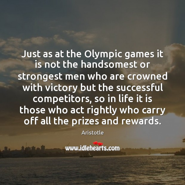 Image, Just as at the Olympic games it is not the handsomest or