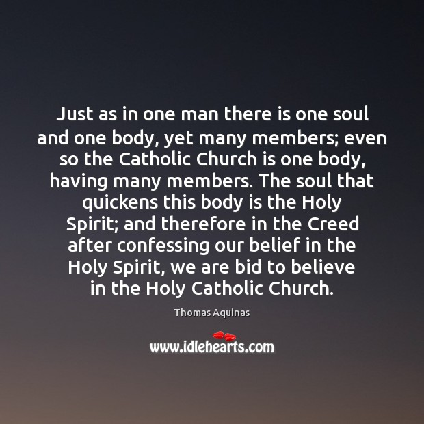 Image, Just as in one man there is one soul and one body,