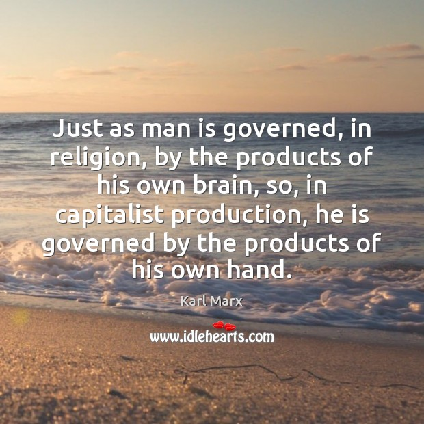 Just as man is governed, in religion, by the products of his Image