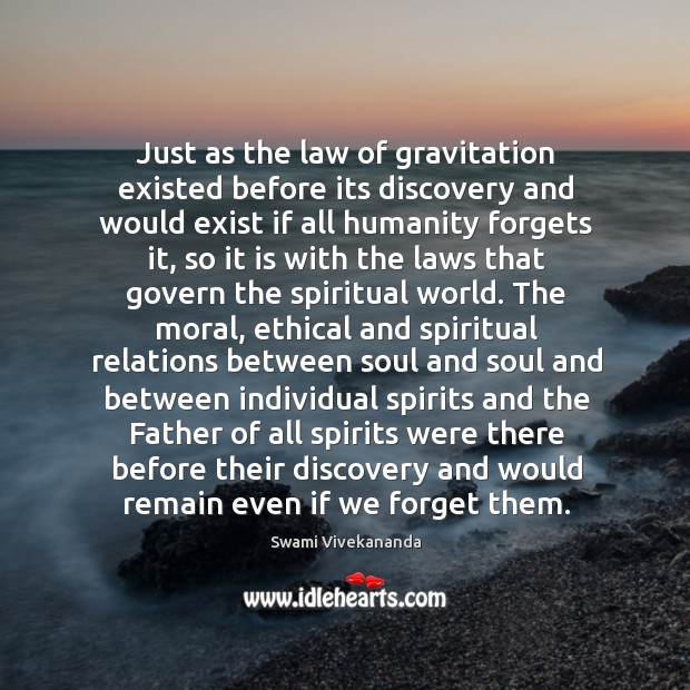 Just as the law of gravitation existed before its discovery and would Image