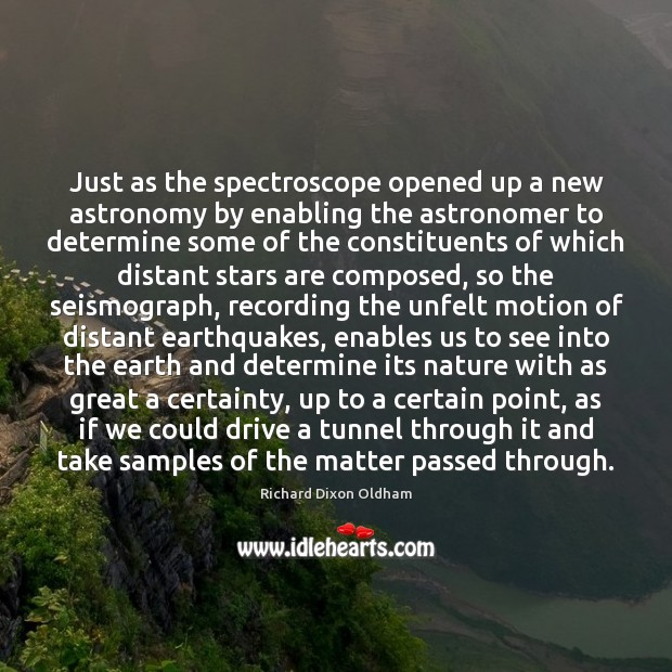 Just as the spectroscope opened up a new astronomy by enabling the Image