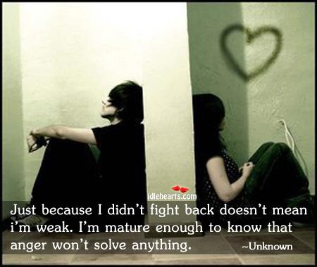Anger won't solve anything Image