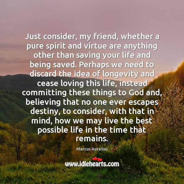 Just consider, my friend, whether a pure spirit and virtue are anything Image
