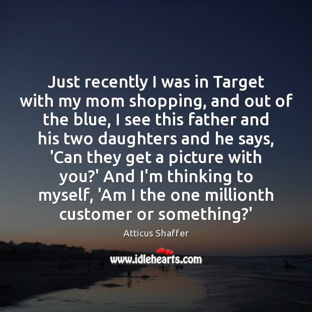 Just recently I was in Target with my mom shopping, and out Image