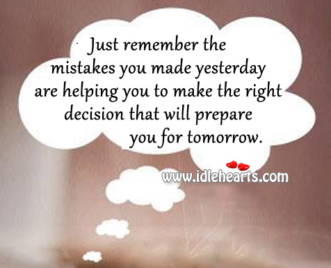 The right decision that will prepare you for tomorrow. Image