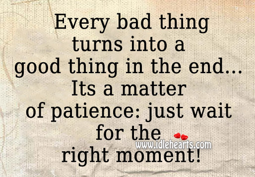 Its a matter of patience: just wait for the right moment! Image