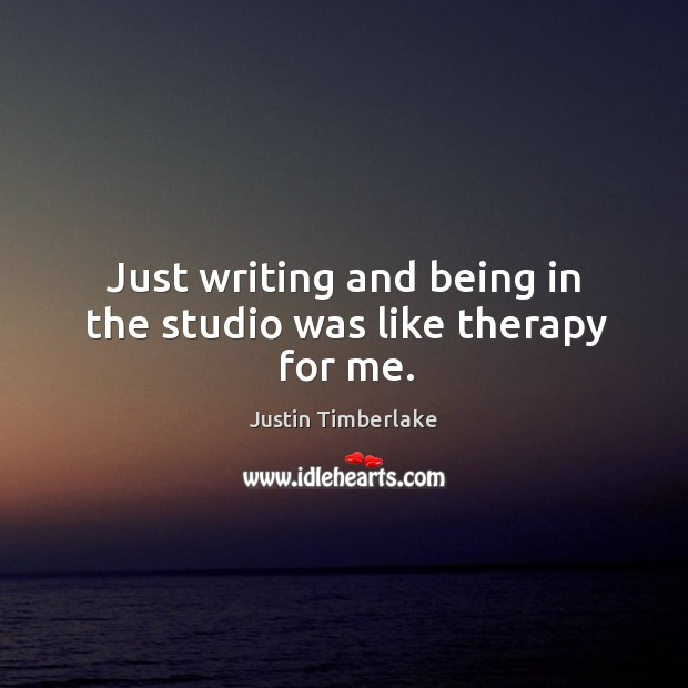Just writing and being in the studio was like therapy for me. Image