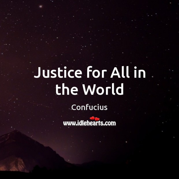 Justice for All in the World Image