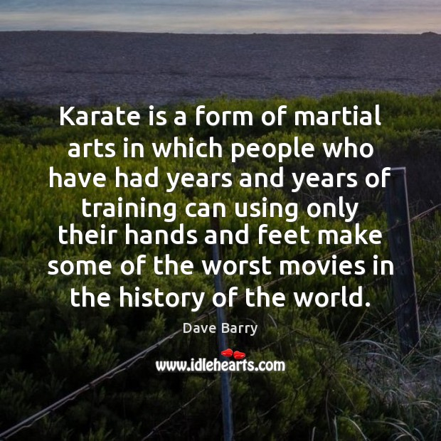 Image, Karate is a form of martial arts in which people who have