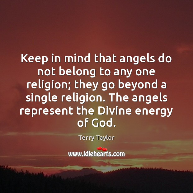 Keep in mind that angels do not belong to any one religion; Image