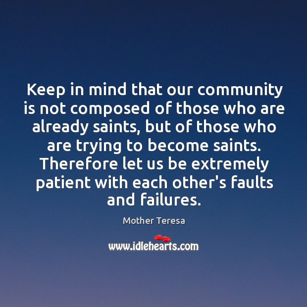 Image, Keep in mind that our community is not composed of those who