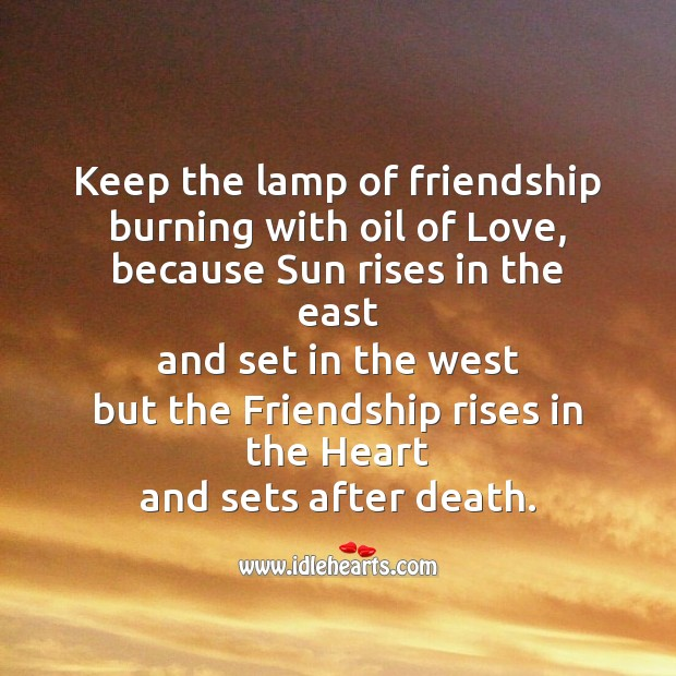 Image, Keep the lamp of friendship