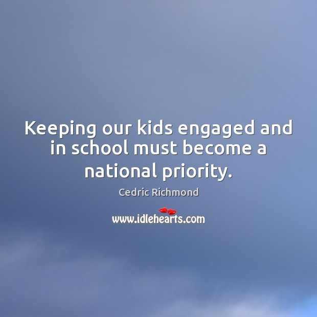 Keeping our kids engaged and in school must become a national priority. Image
