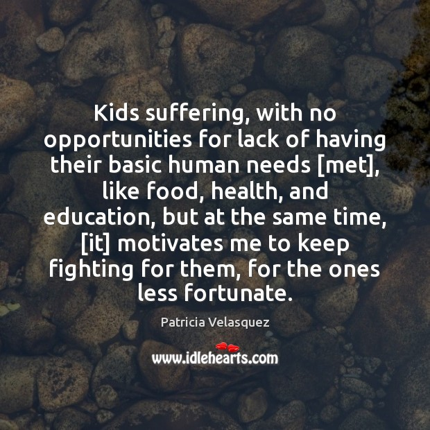 Image, Kids suffering, with no opportunities for lack of having their basic human
