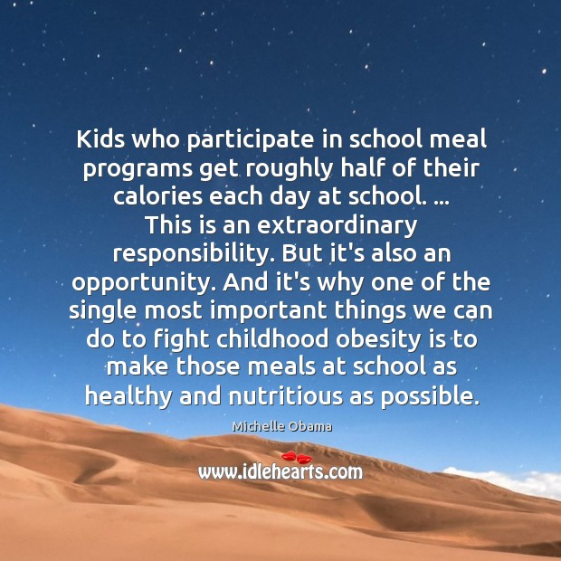 Kids who participate in school meal programs get roughly half of their Image
