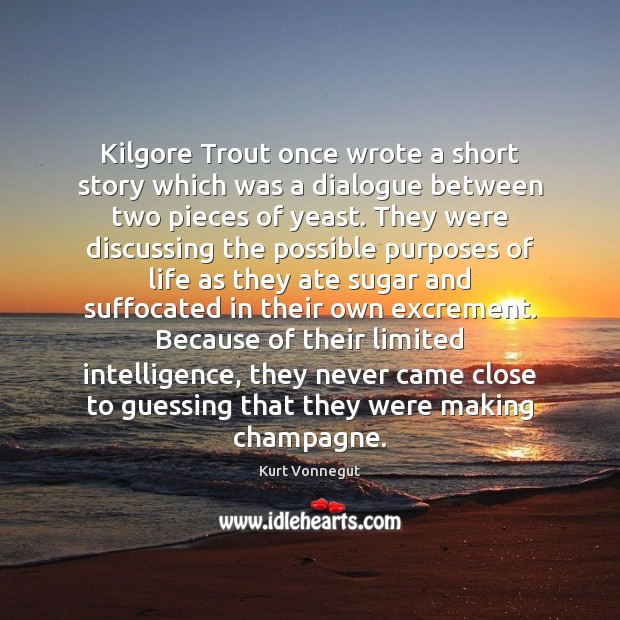 Kilgore Trout once wrote a short story which was a dialogue between Kurt Vonnegut Picture Quote