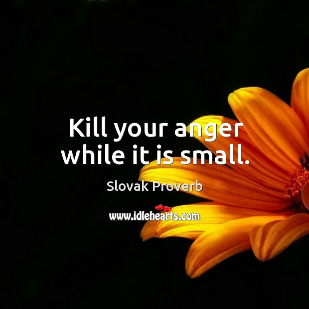 Image, Kill your anger while it is small.