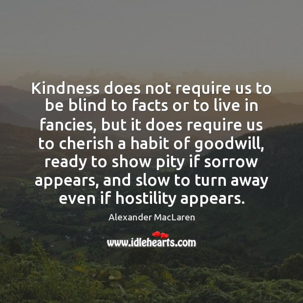 Kindness does not require us to be blind to facts or to Image