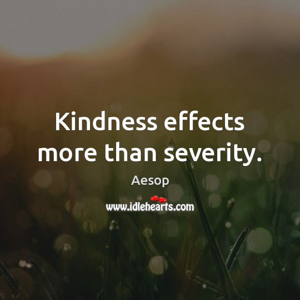 Image, Kindness effects more than severity.