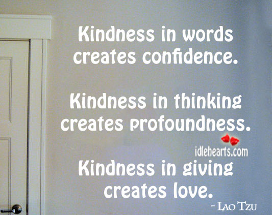 Image, Kindness in words creates confidence