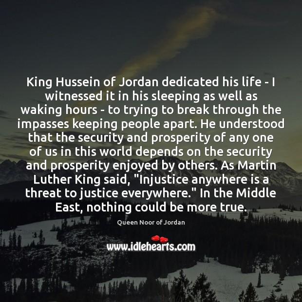 King Hussein of Jordan dedicated his life – I witnessed it in Image
