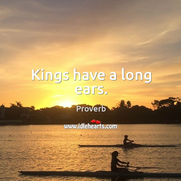 Kings have a long ears. Image