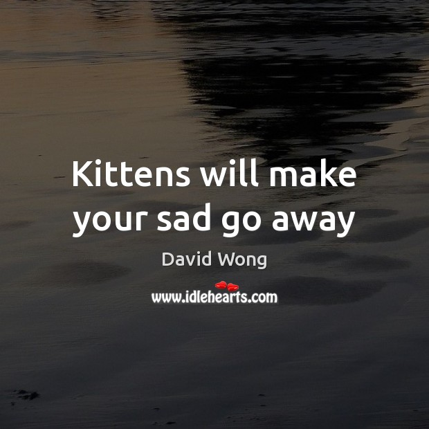 Image, Kittens will make your sad go away