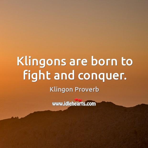 Klingon Proverb Image