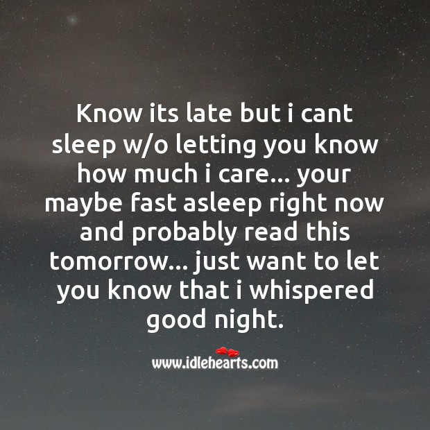 Know its late but I cant sleep Image